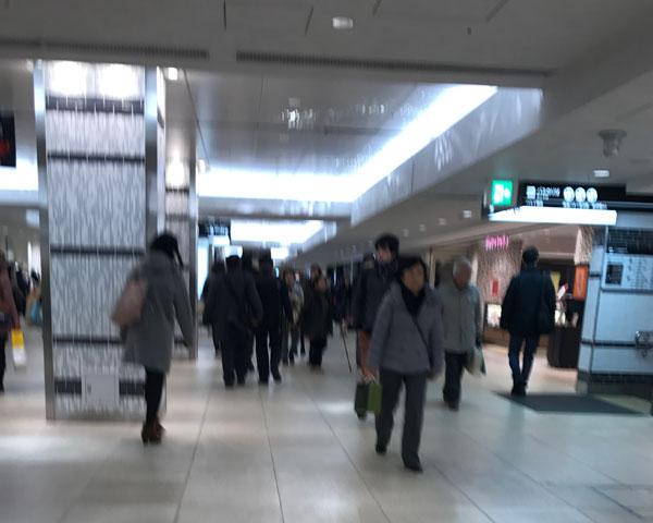 横浜駅西口からの経路